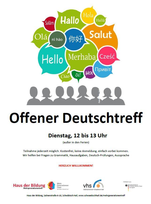 Offener Deutschtreff @ Haus der Bildung | Schwäbisch Hall | Baden-Württemberg | Deutschland