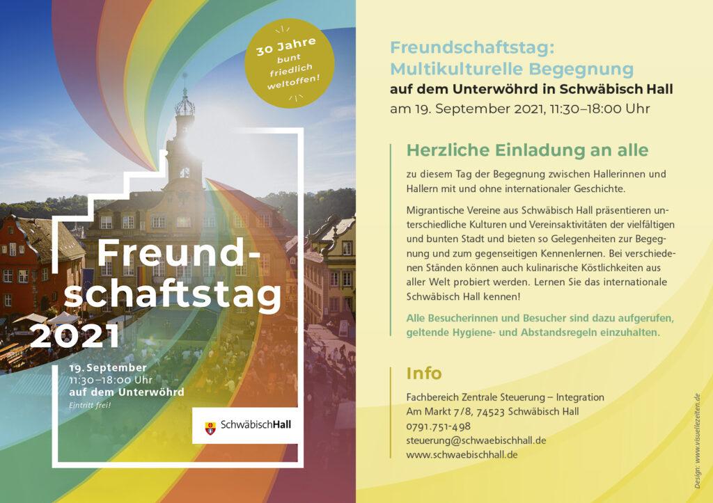 Freundschaftstag 2021 @ Unterwöhrd Schwäb. Hall